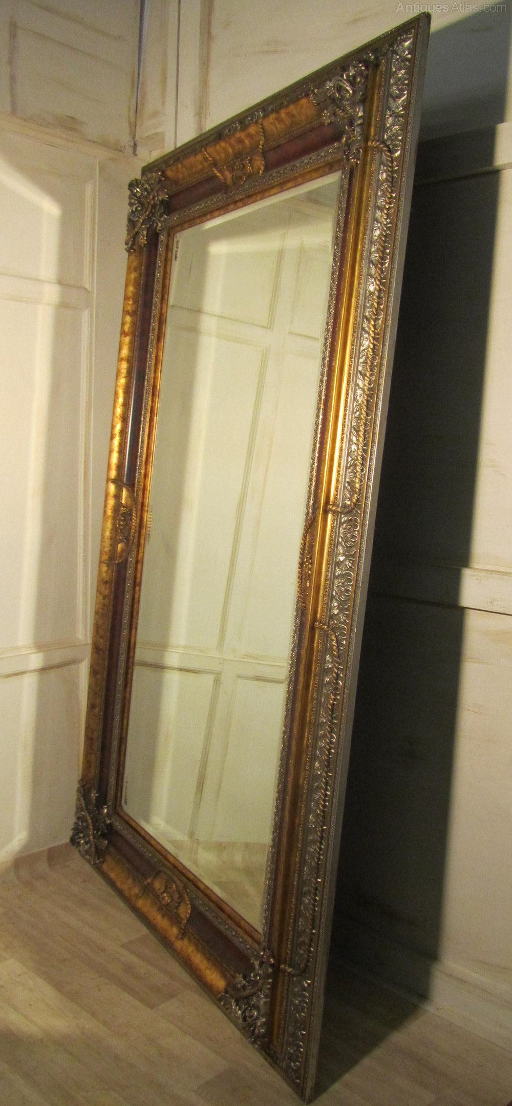 Antiques atlas a very large 8ft decorative wall mirror Large mirror on wall