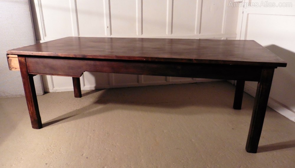 A Very Long French Farmhouse Elm Table 20 Seater Antiques Atlas