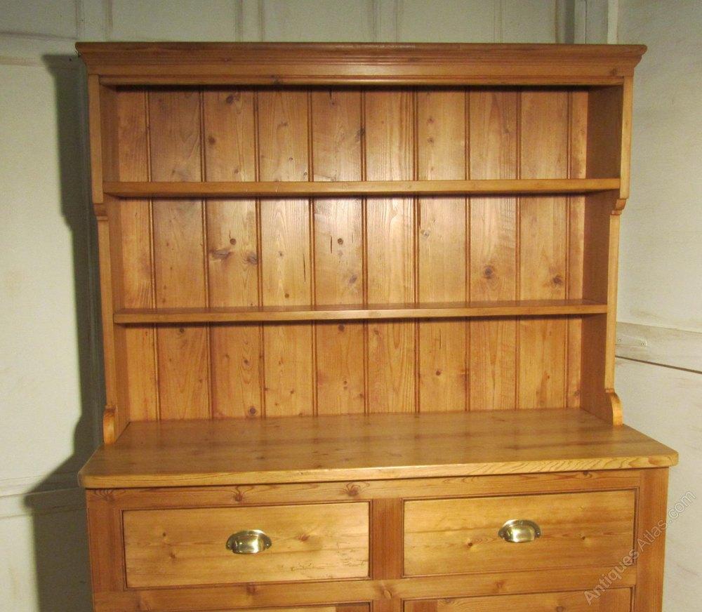A Victorian Pine Farmhouse Kitchen Dresser Antiques Atlas