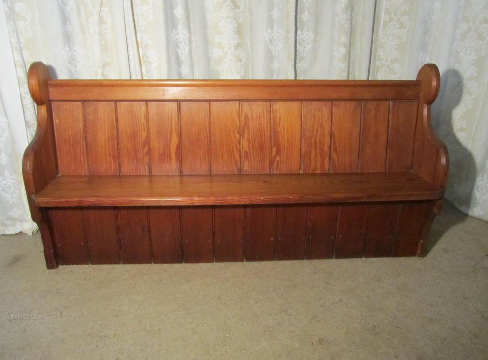 A Victorian Pitch Pine Church Pew Or Kitchen Bench Antiques Atlas