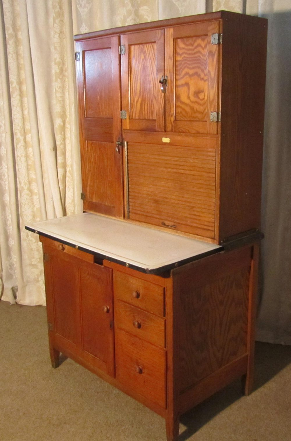 Hoosier Kitchen Cabinet An Art Deco Hoosier Kitchen Cabinet Dresser Antiques Atlas