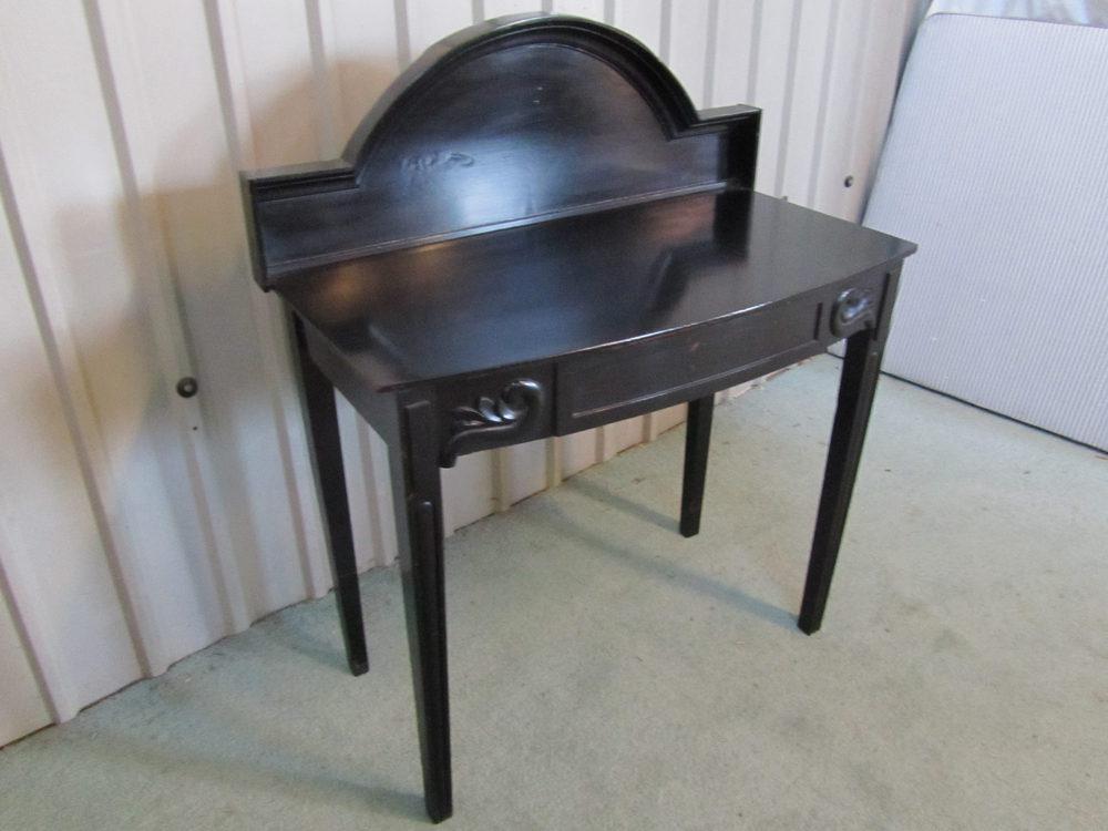an elegant ebonized mahogany hall table or desk antiques