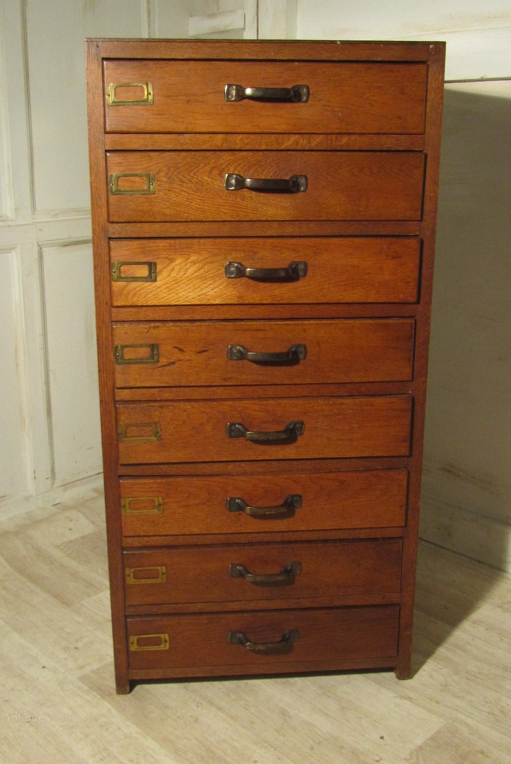 Art Deco 8 Drawer Oak Filing Cabinet Antiques Atlas