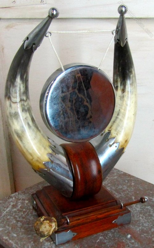 Art Deco Animal Horn Table Gong Antiques Atlas