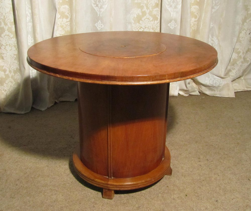 Art Deco Walnut Coffee Table, Cocktail Cabinet