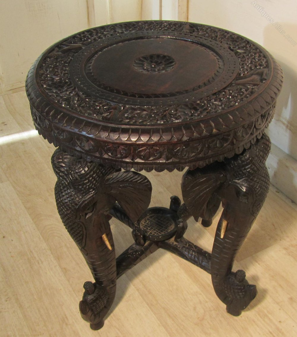 Carved Elephant Table Occasional Coffee Table Antiques Atlas