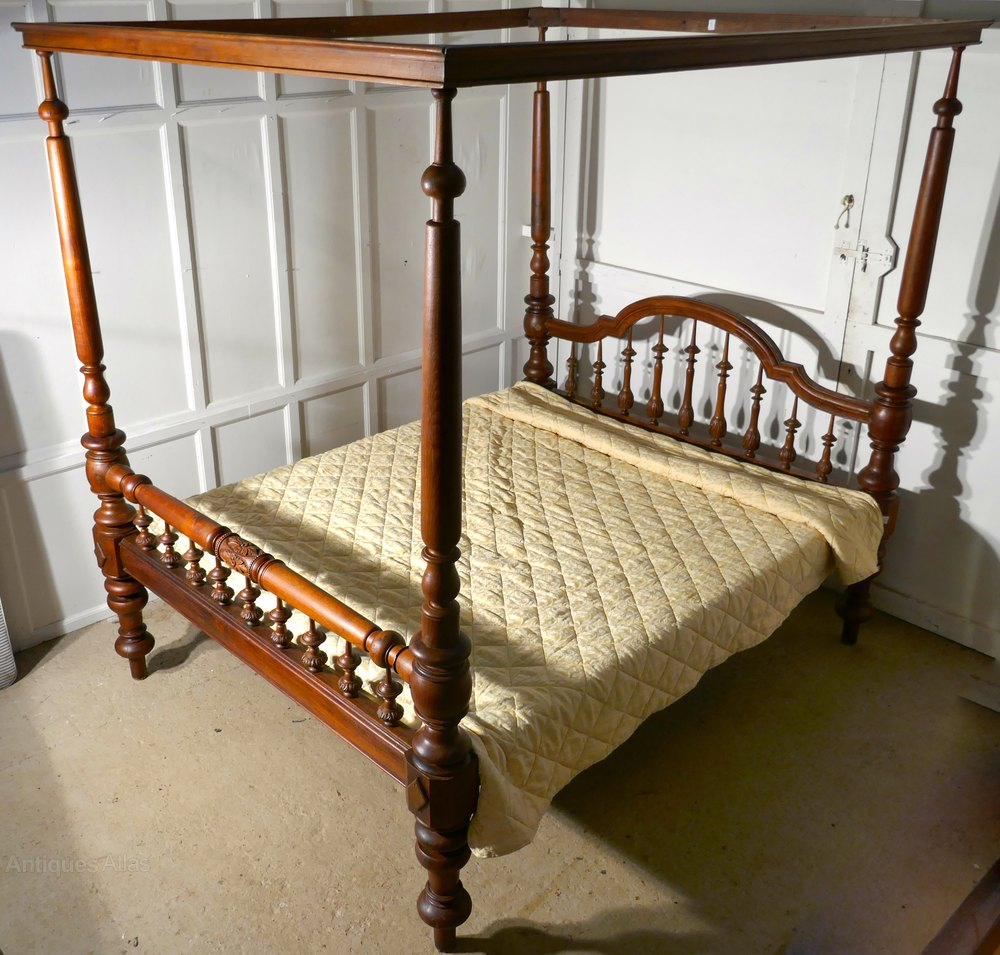 Colonial raj four poster 6ft bed anglo indian bed for Colonial beds