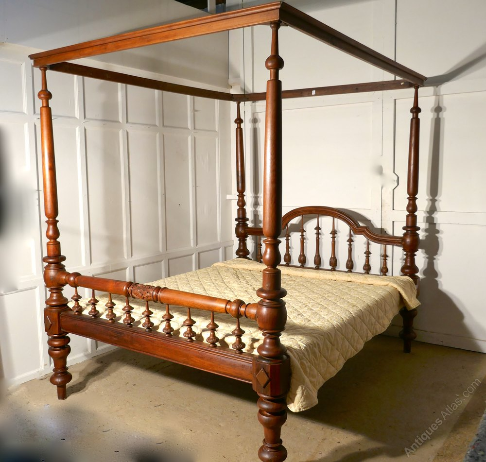 Colonial Raj Four Poster 6ft Bed Anglo Indian Bed