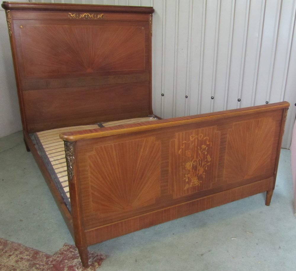 French art deco design empire style double bed antiques for Empire style bed