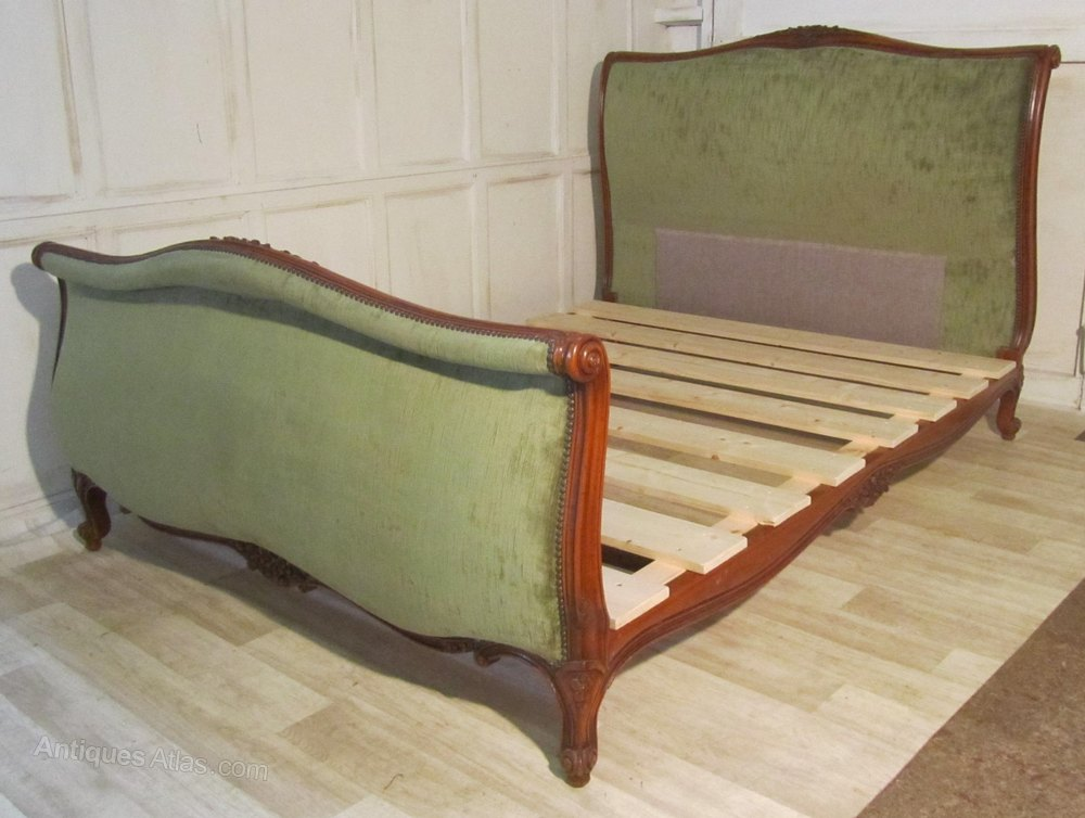 French carved rococo ch teau 5ft double bed antiques atlas for French baroque bed