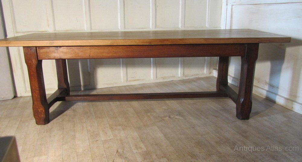 French Farmhouse Oak Dining Table From Brittany Antiques