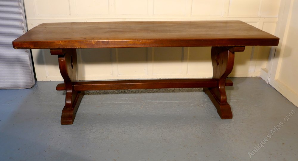 French rustic oak refectory table table monast re antiques atlas - Table monastere relookee ...