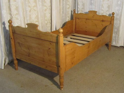 French Single Pine Sleigh Bed Lit Bateau Antiques Atlas