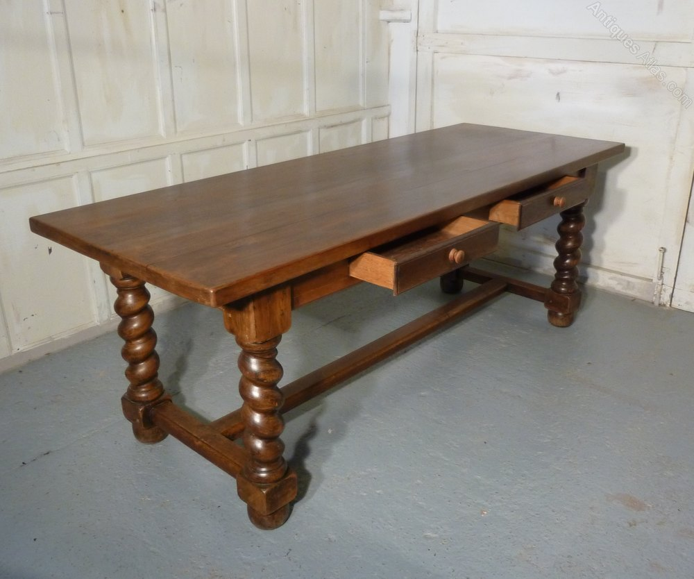 French Solid Oak Farmhouse Table Antiques Atlas