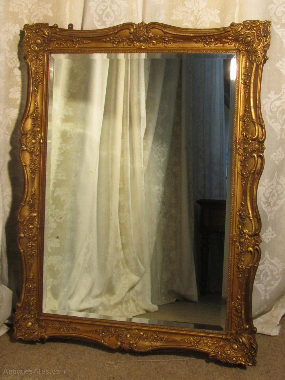 Antiques Atlas Large 19th Century Gilt Wall Mirror
