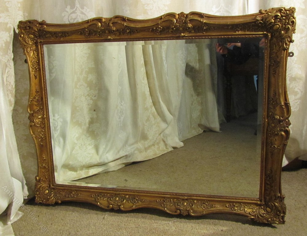 Antiques atlas large 19th century gilt wall mirror for Big gold mirror
