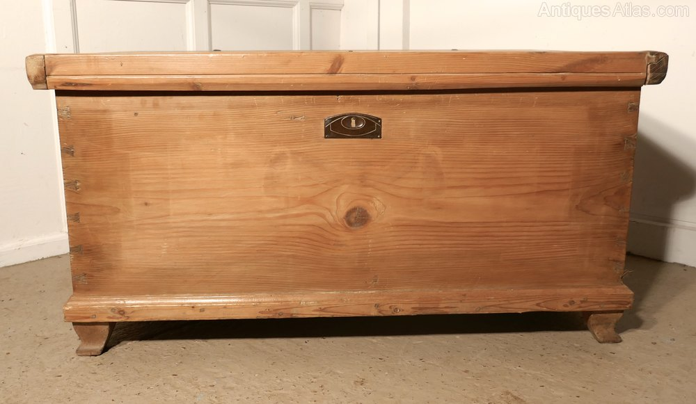 Large 19th Century Pine Coffer Coffee Table Antiques Atlas