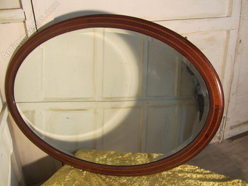 Antiques Atlas Large Edwardian Inlaid Mahogany Oval Wall