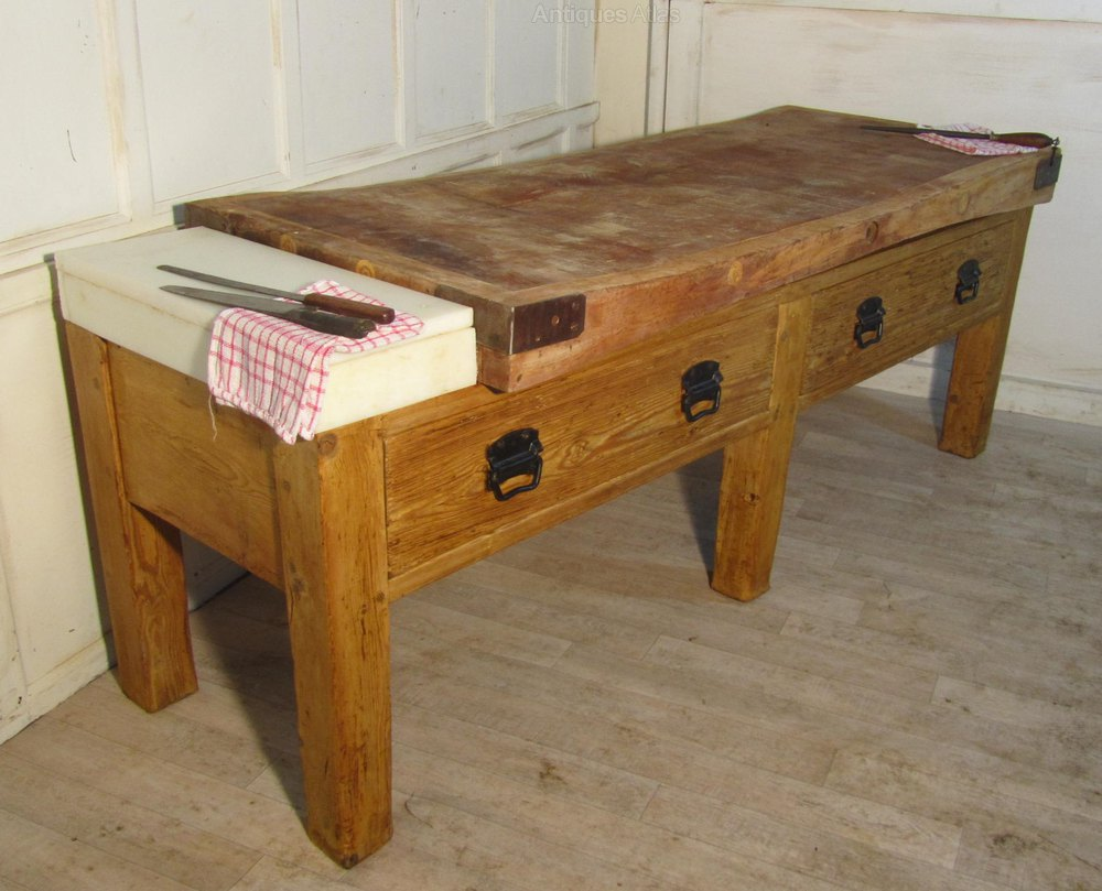 large french butchers block kitchen island antiques atlas