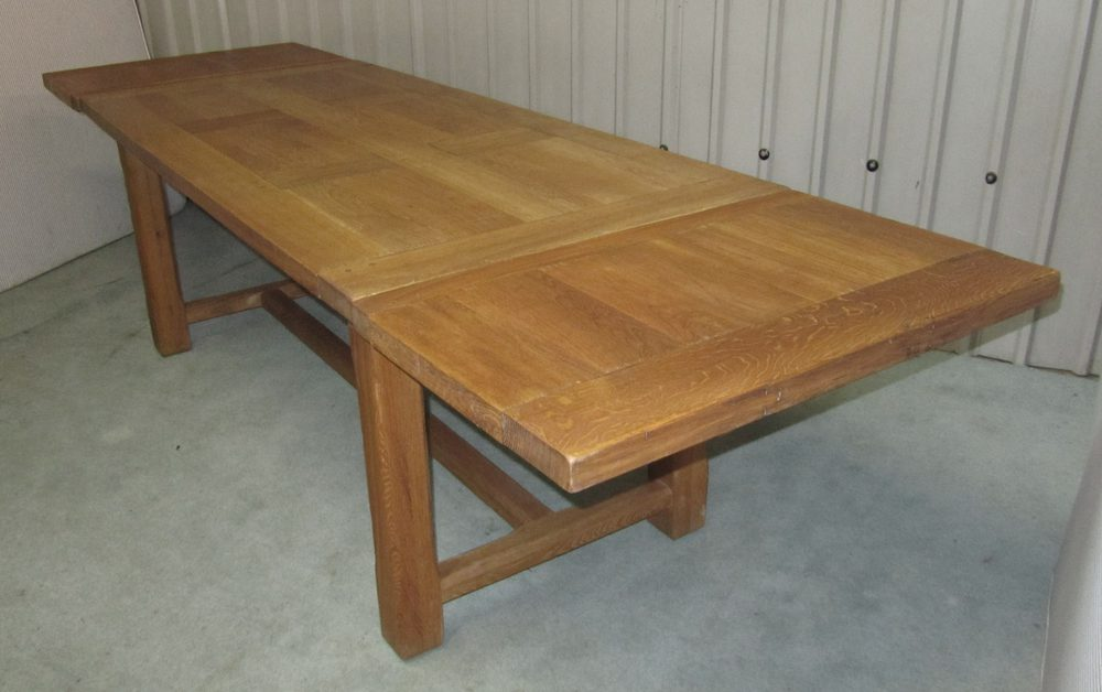 Large french extending oak dining table antiques atlas for Oak extending dining table