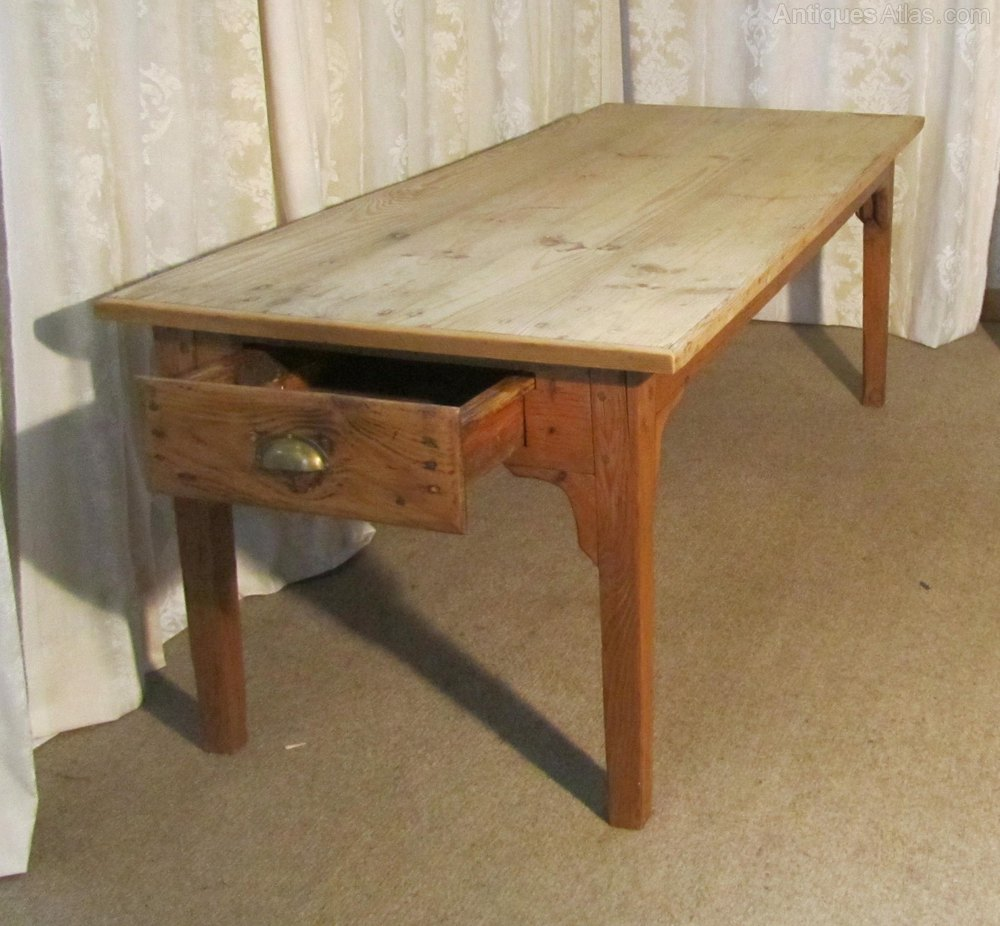 Large French Farmhouse Kitchen Pine Table Antiques Atlas