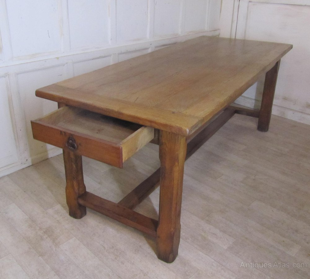 French Farmhouse Dining Table Large French Farmhouse Oak Dining Table Brittany Antiques Atlas
