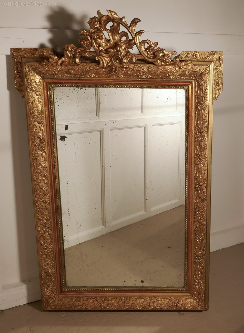 Antiques Atlas Large French Gilt Wall Mirror