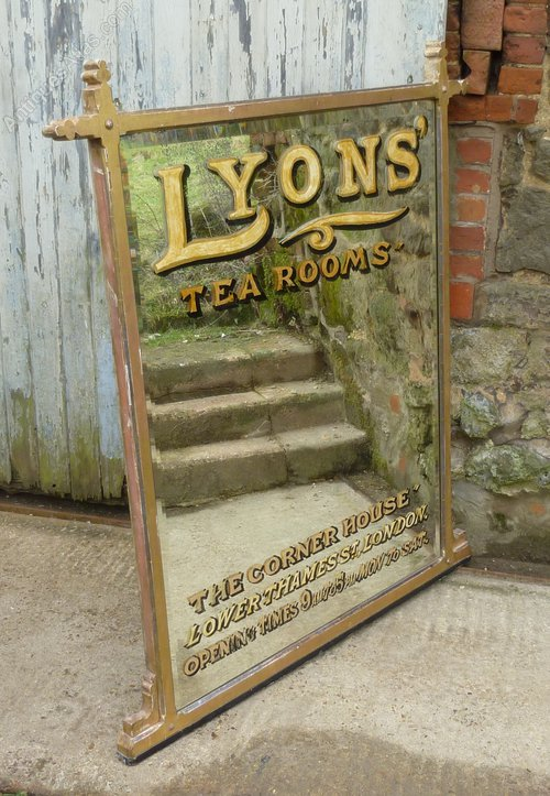 Antiques Atlas Large Victorian Advertising Mirror Lyons