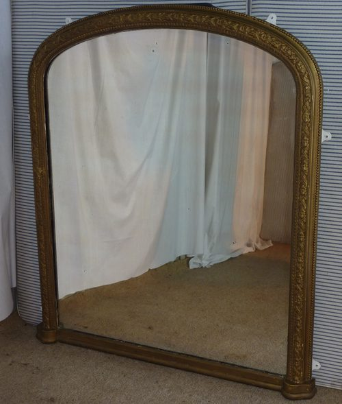 Mantle Mirror Arched Over Mantle Mirror