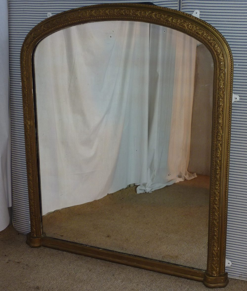 Antiques Atlas Large Victorian Gold Arched Over Mantle