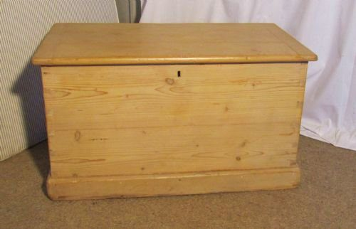 Large Victorian Pine Blanket Box Coffee Table Antiques Atlas