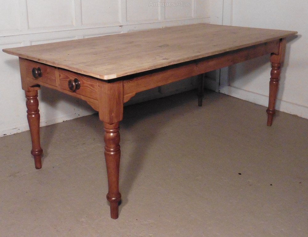 large pine table scrub top kitchen table