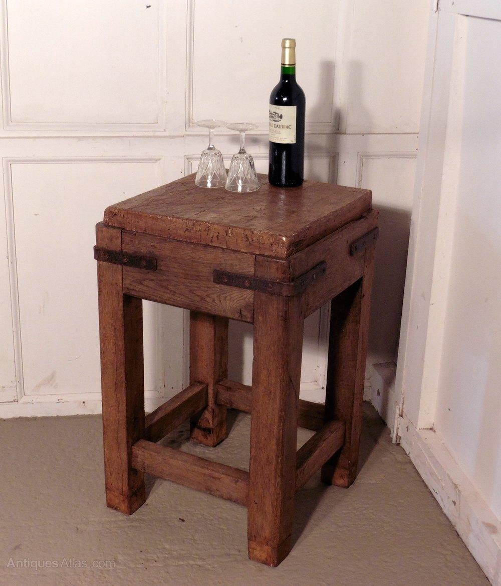 oak work table chopping block kitchen island antiques