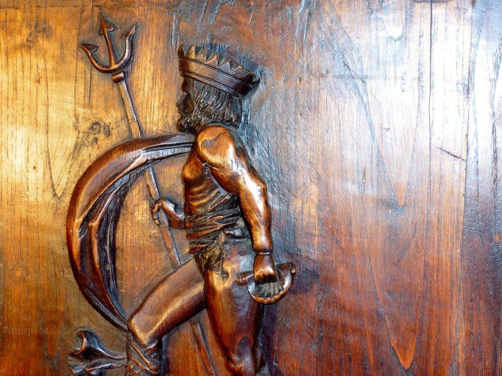 Antiques atlas pair of carved oak door panels thor