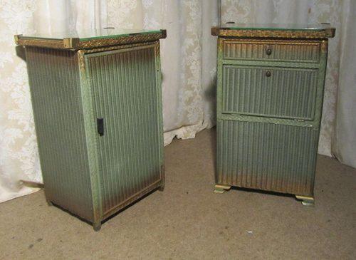 pair of lusty lloyd loom bed side cabinets antiques atlas. Black Bedroom Furniture Sets. Home Design Ideas