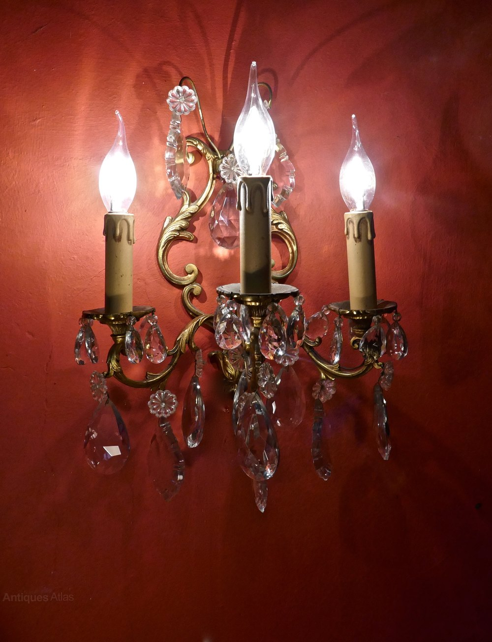 Antiques Atlas Pair Of Three Branch Rococo Wall Light