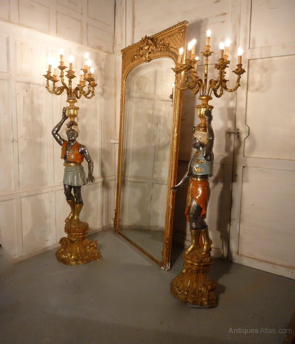 Antique floor candelabra best 2000 antique decor ideas antiques atlas pair of venetian blackamoor candelabra aloadofball Gallery