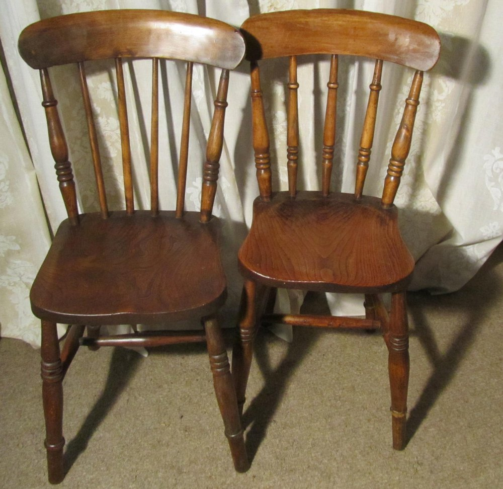 Set Of 6 Beech Elm Country Kitchen Dining Chairs Antiques Atlas