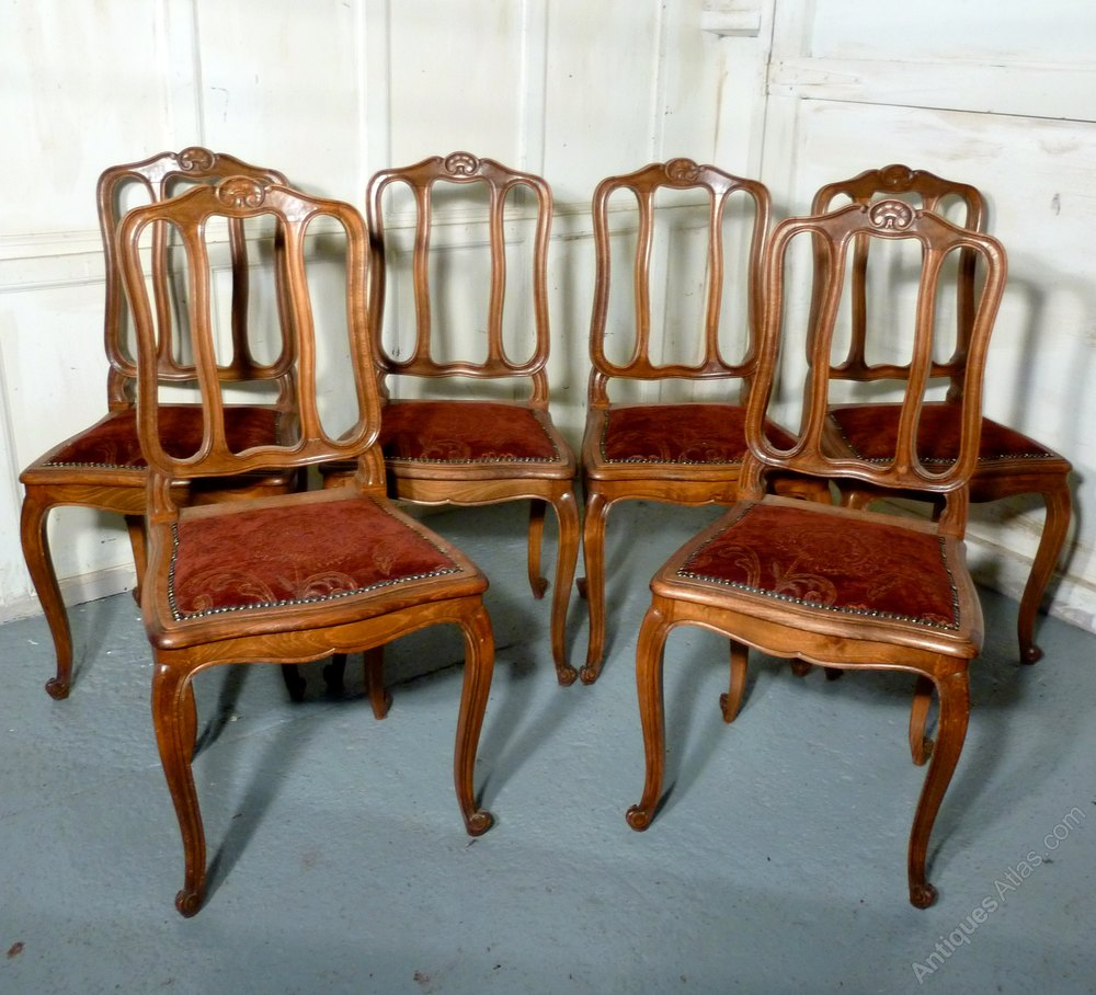 Set Of 6 French Dining Chairs Antiques Atlas
