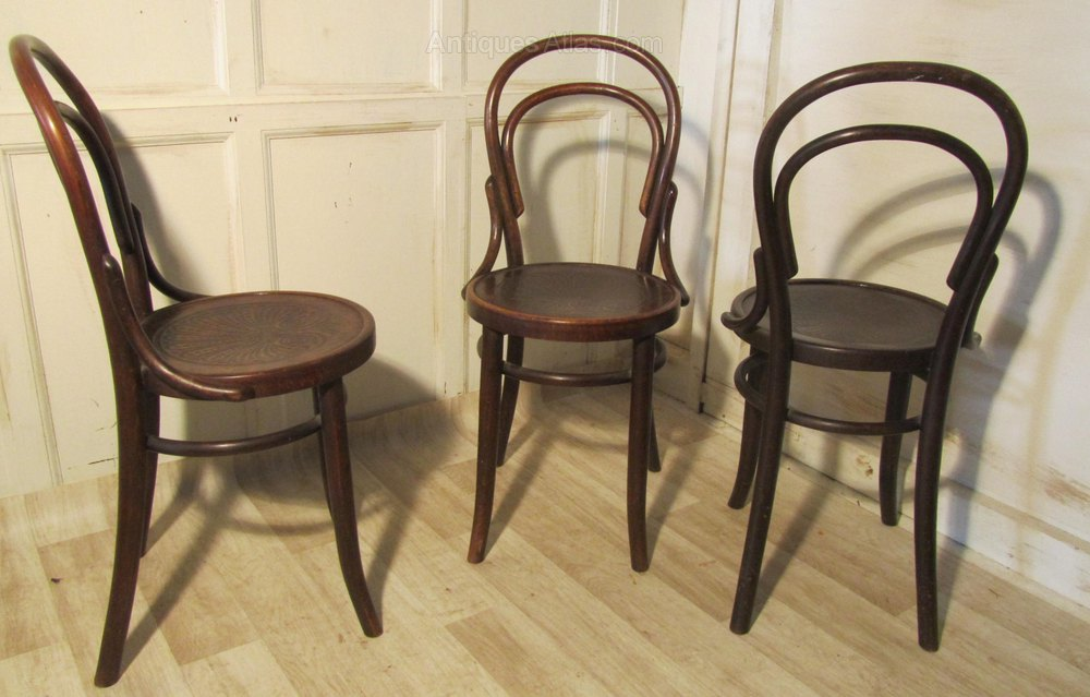 Set Of 6 Thonet Bistro Bentwood Chairs Antiques Atlas