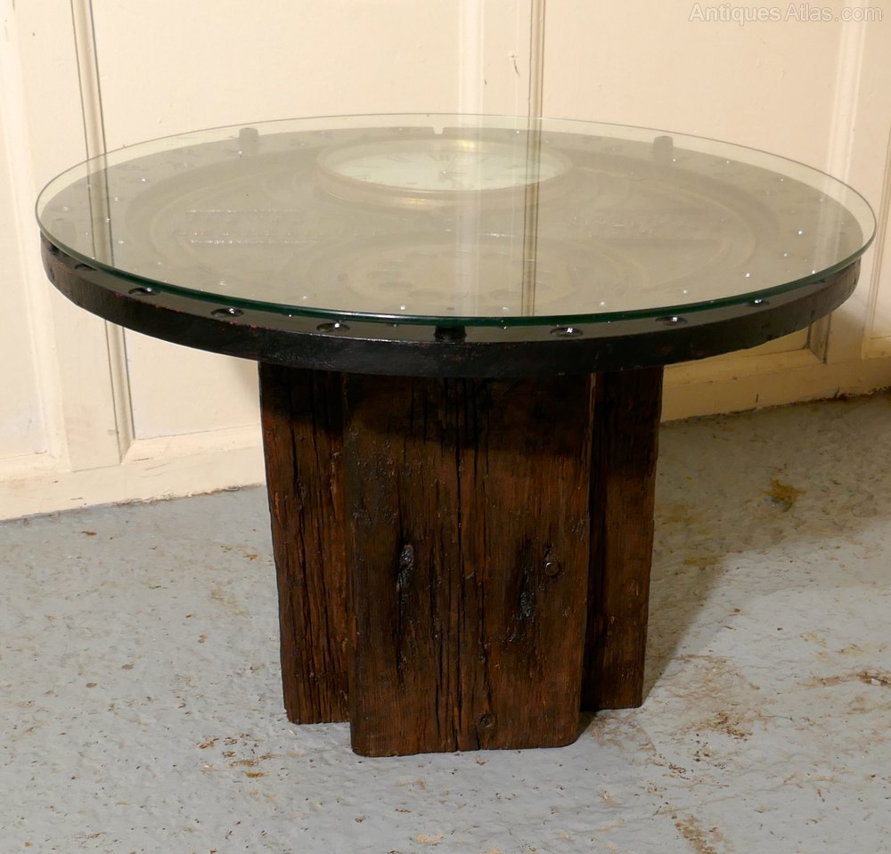 Stylish Designer Coffee Table Industrial Antiques Steam
