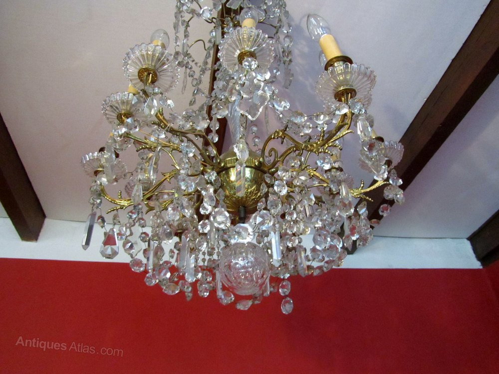 Antiques Atlas Superb Large 12 Branch Baccarat Chandelier