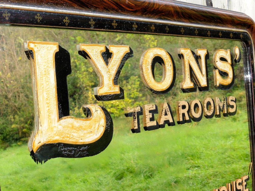 Antiques Atlas Victorian Advertising Mirror Lyons Tea Rooms