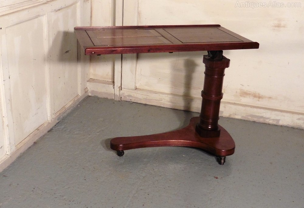 Victorian Mahogany Reading Stand Over Bed Table