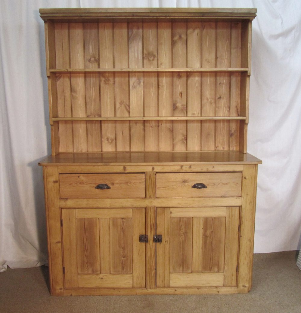 Victorian Pine Farmhouse Kitchen Dresser