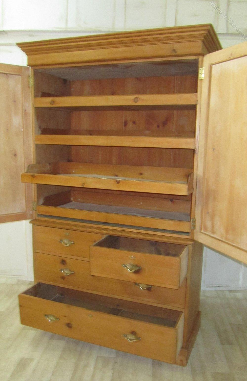 Victorian Pine Linen Press Housekeeper S Cupboard
