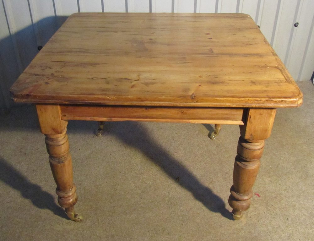 Victorian Rustic Pine Kitchen Table Antiques Atlas