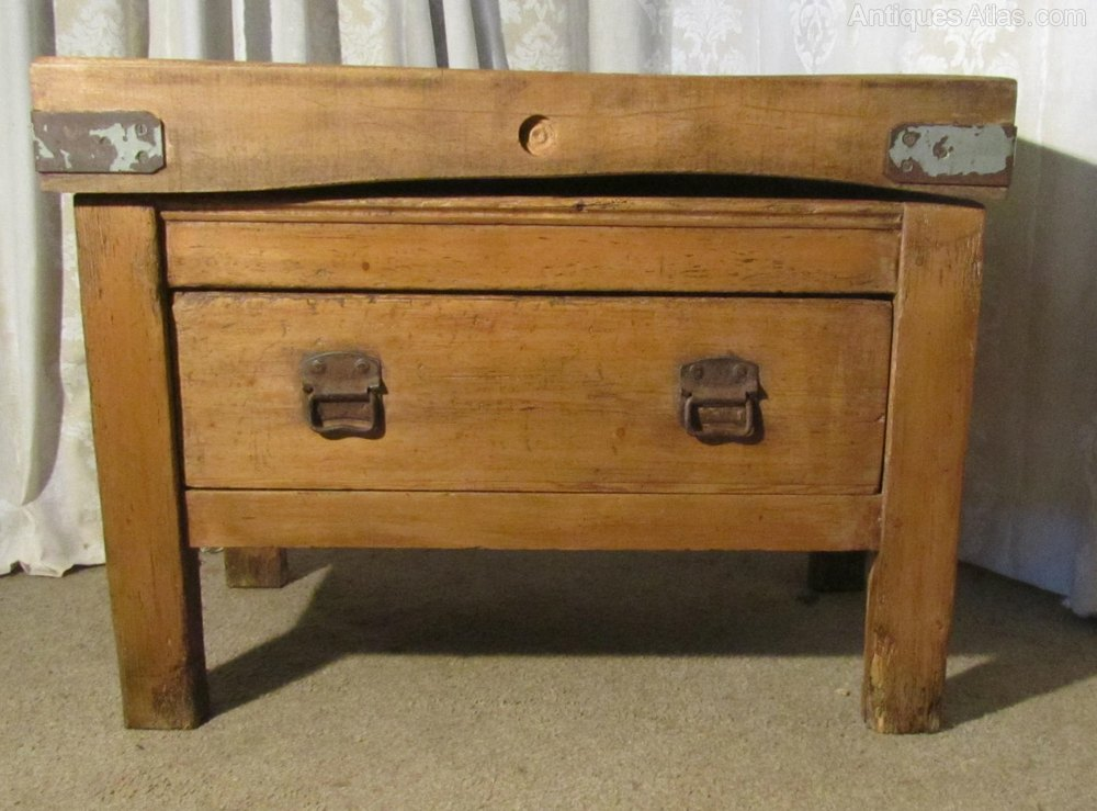 vintage french butchers block kitchen island antiques
