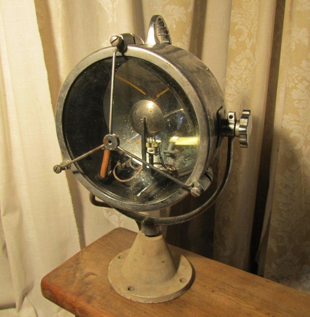 Antique Perko Navigation Lights Vintage Authentic Naval: Vintage Nautical Chrome Search Light