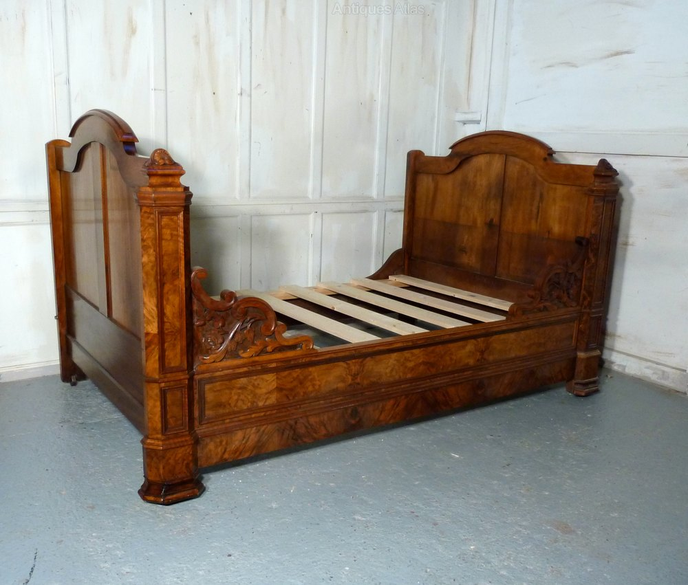 Walnut sleigh bed or empire style day bed antiques atlas for Empire style bed